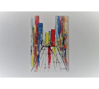 Tableau ville coloré : Au Sud de Manhattan