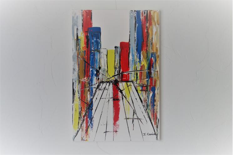 Déco urbaine avec un tableau contemporain : Au Sud de Manhattan