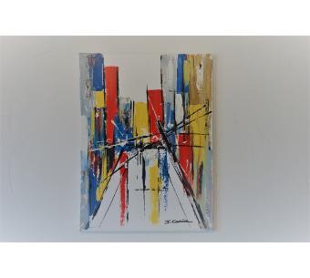 Peinture abstraite ville pour déco urbaine : Dans le quartier de South Street