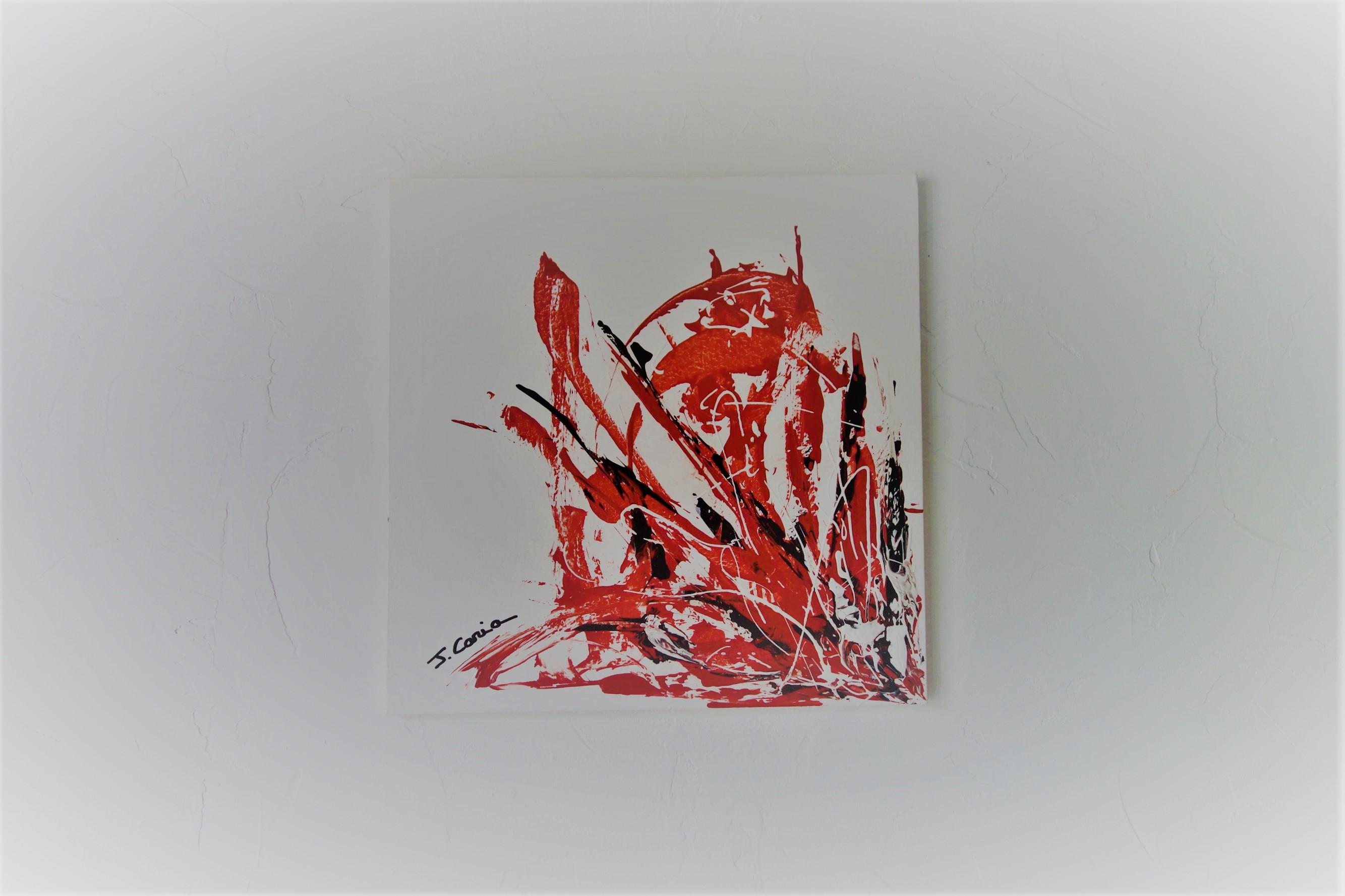 Tableau Rouge Et Blanc Un Souffle D Amour