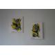 Déco jaune et gris avec des tableaux modernes : La vie insouciante