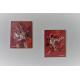 déco rouge orangé avec des tableaux contemporains : Emotions fortes