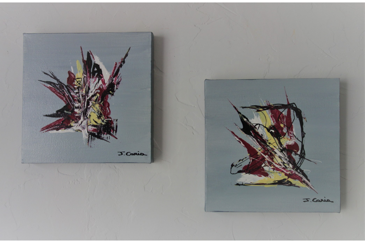 Peintures couteau acrylique, tableaux 3D : Nouveaux élans
