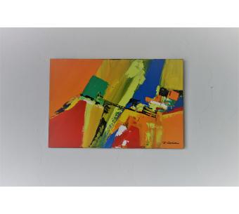 Tableau coloré moderne : La vie tout en couleur