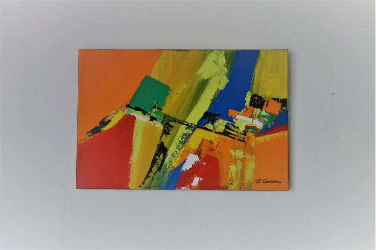 Déco mural colorée moderne : La vie tout en couleur