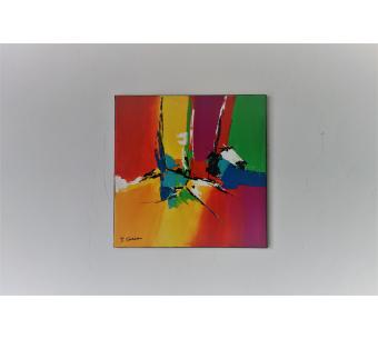 Tableau abstrait coloré : Un joli rêve