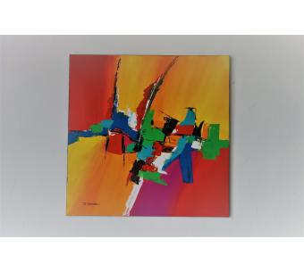 Peinture colorée moderne : Retour à la gaieté