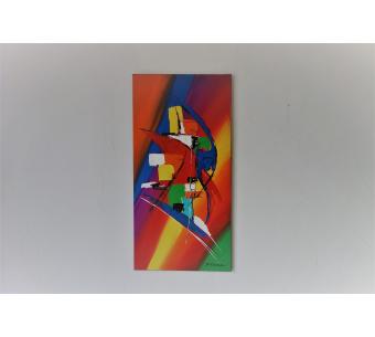 Création colorée abstraite : La vie devant soi
