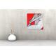 Tableau GLAMOR (tableau rouge gris) moderne