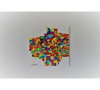 Peinture fun et colorée : La joie que j'ai