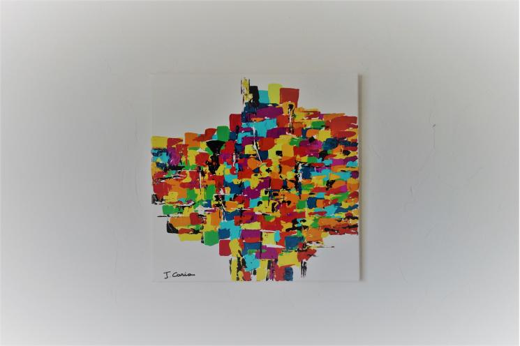 Déco moderne fun et colorée : La joie que j'ai
