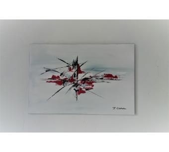 Tableau gris Art Déco  : Source de renouveau
