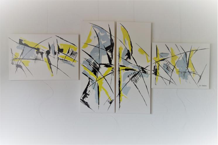 Grande décoration murale blanche ultra moderne : Pensée positive
