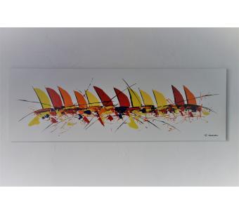 Déco marine colorée avec un tableau bateaux multicolores  : Belle ivresse