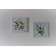 Peintures modernes gris et jaune : Rayonnement