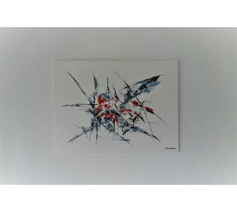 Déco moderne blanche avec une toile peinture abstaite : Liberté d'expression