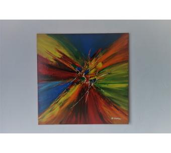 Peinture toile colorée contemporaine : Au jeu des couleurs