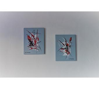 Peintures abstraites grises : L'espace infini