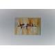 Tableau peinture abstraite marron : Au temps des feuilles mortes