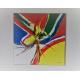 Grande toile contemporaine unique à prix abordable : Attraction colorée