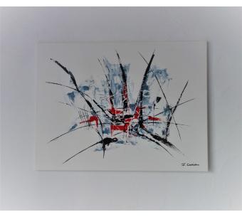 Toile peinture moderne blanche : Liberté d'esprit