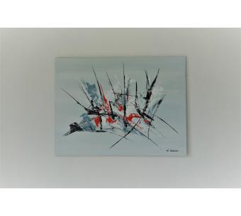 Tableau gris art minimaliste pour déco design : Délivrance