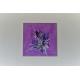 Tableau violet clair contemorain  : Caresse et tendresse