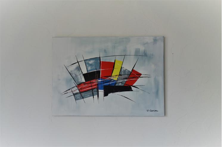 Peinture abstraite moderne : Une vie pleine d'audace