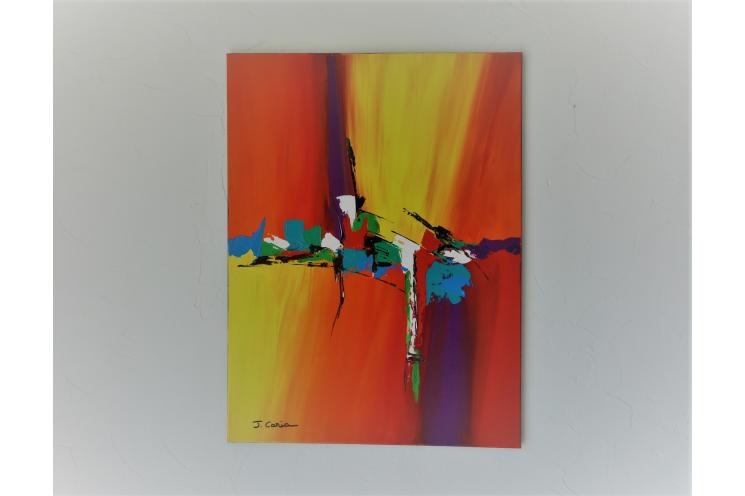 Tableau toile colorée design : Souvenirs ineffaçables