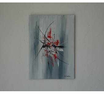 Objet déco gris unique d'art abstrait : Liberté de pensée