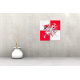 Tableau RED AND WHITE (quadriptyque rouge et blanc) moderne