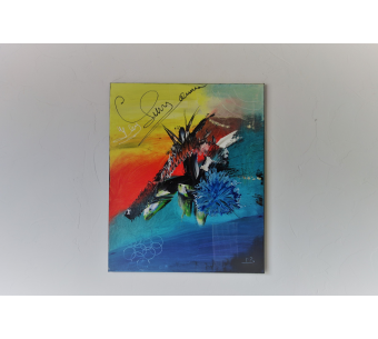 Tableau fleurs d'art contemporain avec du relief : Audace