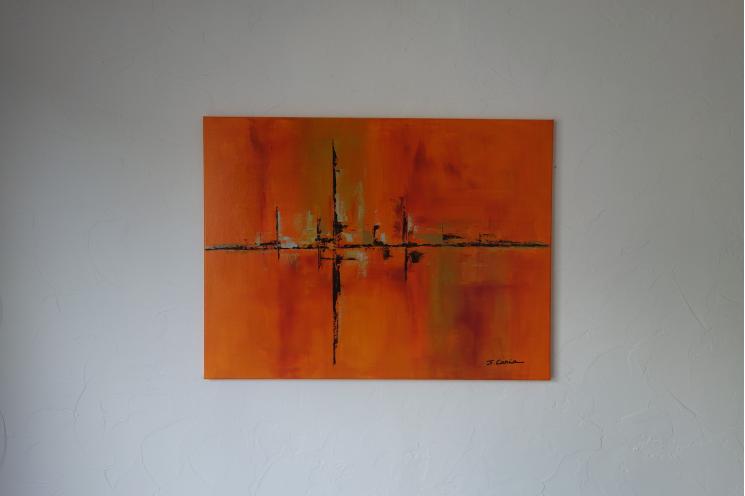 Déco design contemporain avec une peinture colorée : Un voyage pétillant
