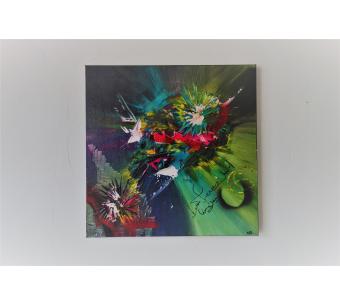 Peinture comporaine fleurs colorées : Illusion lyrique
