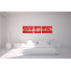 Tableau MEMORY (triptyque rouge) moderne