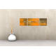 Tableau MYSTERIOUS CITY (triptyque jaune,orange) moderne