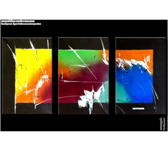 Tableau A MULTICOLORED SKY (triptyque coloré) moderne