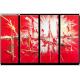 Tableau CLARITY (quadriptyque rouge) moderne