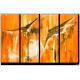 Tableau DESIR D'EVASION (quadriptyque orange) moderne