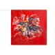Tableau FLOWERING (tableau rouge) moderne