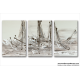 Tableau DREAM OF ESCAPE (triptyque marron) moderne