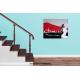Tableau VOYAGE DE NOCES (tableau gris rouge) moderne