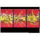 Tableau PLEASURE AT SEA (triptyque rouge) moderne