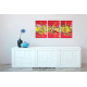 Tableau PLEASURE AT SEA (triptyque rouge) moderne
