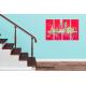 Tableau THE GREAT FAIR (quadriptyque rouge) moderne
