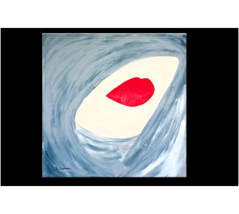 Tableau gris moderne : Femme secrête