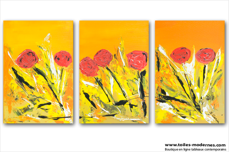 Ardent love (triptyque orange)