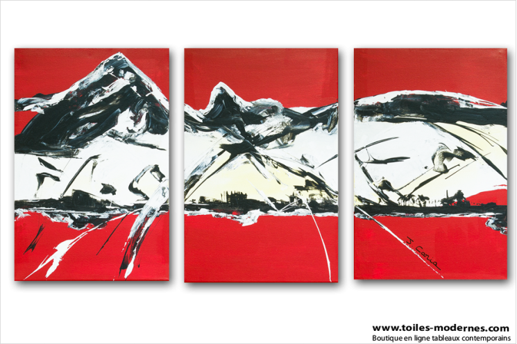 Moutain (triptyque rouge)