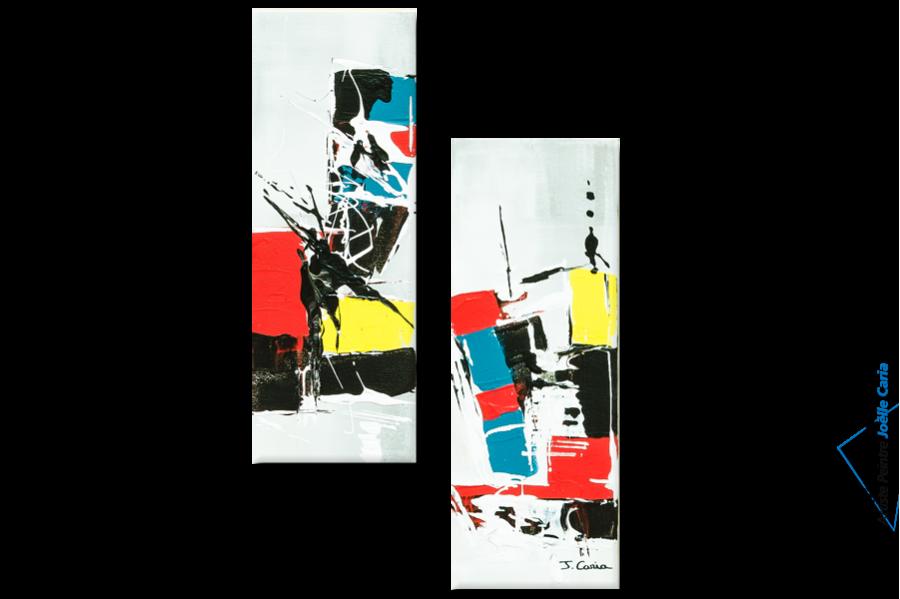 tableaux contemporains diptyque color format portrait petit prix d co tendance. Black Bedroom Furniture Sets. Home Design Ideas