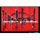 Tableau contemporainThe big city (quadriptyque rouge)
